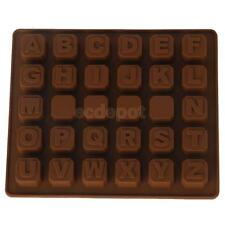 Silicone Alphabet Letters Chocolate Mold Ice Cube Tray Cake Fondant Mould