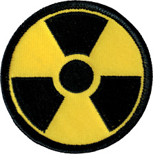 43030 Radiation Symbol Yellow & Black Danger Chemical Embroidered Iron On Patch