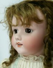 "Sweet Antique 24"" Heinrich Handwerck Sleep Eye Porcelain Head Doll"