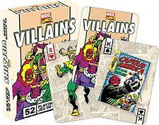 Marvel Bösewichte Retro set von spielkarten (nm 52327)