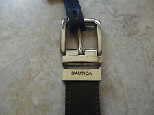 Nautica Boys Casual Reversible Leather Belt Brown/Green size 28 NWT 6442