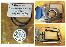 O-ring & Silicone Grease Kit for Canon WP-DC3 Diving Underwater Housing Case