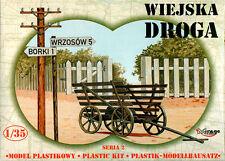 WW II village Road (agriculteurs panier, clôture, poteau & Telegraph pole) 1/35 MIRAGE