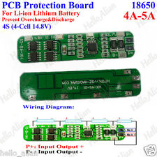 4S 4-5A Li-ion Lithium Battery Cell 18650 Charger BMS PCB Protection Board 14.8V