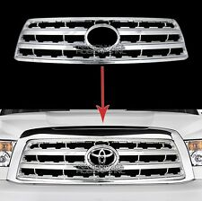 fits 08-16 Toyota Sequoia CHROME Snap On Grille Overlay Front Grill Cover Insert