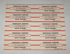 Lou Donaldson Full Sheet of 10 Jukebox Title Strips Midnight Creeper BLUE NOTE