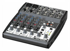Behringer XENYX 802 Premium 8-Input 2-Bus Mixer Board Mic Preamps and British EQ