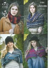 King Cole Wrap, Collar, Snood & Shrug In Ultimate Yarn, Knitting Pattern 3785