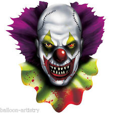 2 Halloween CREEPY CARNIVAL Circus Party EVIL CLOWN Cutouts Decorations