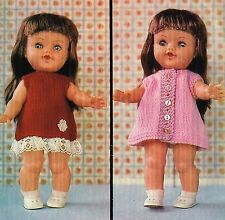 """Dolls clothes knitting pattern  for an 11""""- 12"""" Baby doll. (V Doll 98)"""