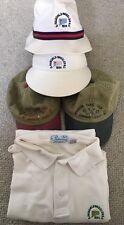 D Fairchild Wheeler Park CT Bucket Visor Hat & Pickering Golf Shirt L Vintage