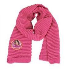 VIOLETTA sciarpa in lana rosa e fili dorati da bambina