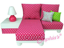 "Sophia's CHAISE LOUNGE SOFA SECTIONAL SET for 18"" American Girl Dolls Furniture"
