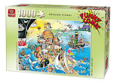 NEW! King Funny Comic - Rocking Stones 1000 piece cartoon jigsaw puzzle