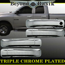 2009-2017 DODGE RAM 1500 Triple Chrome Door Handle Cover W/O PSK W/O Smart Key 4