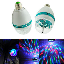 3w E27 LED 360°Rotating Stage Crystal Ball Light Lamp for DJ/Disco//Party/Bar DE