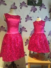 Mother And Daughter Matching Dress Set High Quality Pink perfect For CHRISTMAS