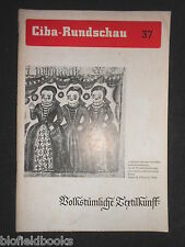 Ciba Rundschau 37 - Vintage German Magazine -  May 1939- Industrial/History