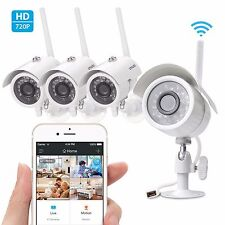 Zmodo 4 720p HD IP Wireless Outdoor IR Night Vision Home Security Camera System