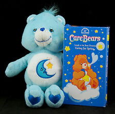 """Care Bears Bedtime Bear 8"""" Plush Stuffed Animal Toy with VHS Video Tape"""