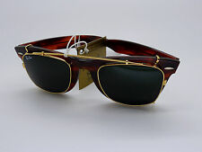 Vintage B&L Ray Ban W0772 Wayfarer Clip On NOS 50mm Original Circa 1990's