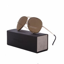 BNIB - Genuine - Porsche Design Aviator Sunglasses - P'8478-A-63 - Gold, Brown