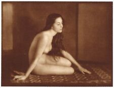 1920's Vintage Romanian Gypsy Female Nude E. Hoppe Art Deco Photo Gravure Print