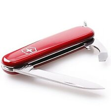 "Victorinox Swiss Army Bantam S. Steel Knife 8 Functions Red Handle 3 ¼"" Closed"