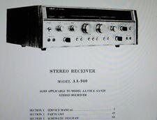 Akai AA-920 AA-930 AA-940 st récepteur service manual inc Schems imprimé anglais