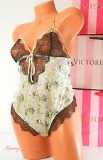 New Victoria's Secret Designer Collection Lingerie VS Teddy 100% Silk S Multi