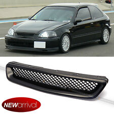 Fits 1996-1998 Honda Civic JDM Type R Honeycomb Mesh Front Hood Grille Grill