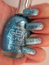 NEW! Sally Hansen GEM CRUSH Nail Polish Lacquer in BLING-TASTIC #04 Aqua Blue
