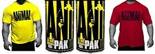 2 x Universal Nutrition Animal Pak + Shirt - Multi Vitamin - Stak - Cuts - Test