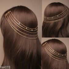 Grecian Headband Chain Hair Chain Alice Hair Band Cuff Pin Head Clip Grips Gift