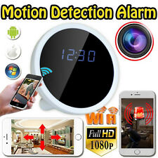 Wireless 720P WiFi HD Camcorder Motion Security Alarm Clock DVR Hidden Camera