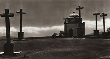 1922 Vintage SPAIN Segovia Mount Calvary Cross Landscape Photo Art By HIELSCHER