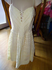 Guess LINEAR DOT LACE Fit and Flare Summer Dress Cream/Ivory SIZE 8 NWT