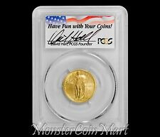 2016-W GOLD STANDING LIBERTY QUARTER PCGS SP70 FIRST STRIKE - DAVID HALL SIGNED!