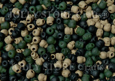 Camo colors Skull Pony Beads halloween crafts paracord survival jewelry making