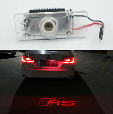 1pc RS Red Car LED License Plate Projection Laser Lamp for Audi A4 A6 Q3 Q5 S6