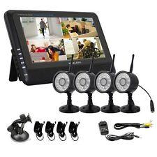"""2.4GHz 4CH Wireless DVR Security System 7"""" TFT LCD Monitor + 4 x Wireless IR CAM"""