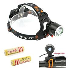 2200LM CREE XM-L2 LED Headlamp Headlight Bike Bicycle Light Lamp+2x18650 battery