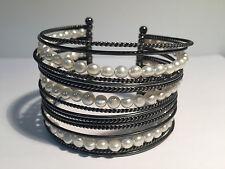 Nueva - Pulsera Esclava de Plata y Perlas - Silver & Pearls Bracelet - New
