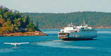 Washington State Ferry - 3D Lenticular Postcard - Supersize