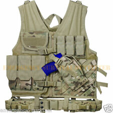 MULTICAM Tactical  Cross Draw Vest with Holster, Pistol Belt & Hydration Carrier