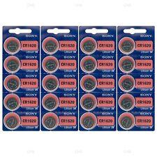 20 NEW SONY CR1620 3V Lithium Coin Battery Expire 2026 FRESHLY NEW - USA Seller