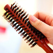 Anti-static Boar Bristle Hair Brush Comb Round Wood Handle Hairdressing Tool