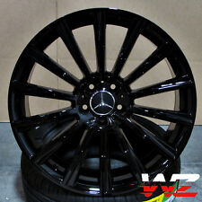 "20"" Mercedes Style Gloss Black Wheels Rims For S Class S550 CL Class CL550 E G"