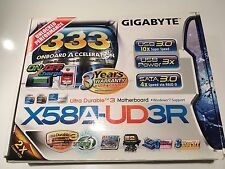 Gigabyte GA-X58A-UD3R (rev. 2.0) LGA 1366/Socket B. With IO shield & accessories