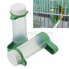 2x Bird Drinker Feeder Waterer With Clip for Aviary Budgie Cockatiel Lovebirds